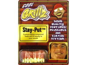 Grillz Gold Fake Teeth - Pimp Costumes