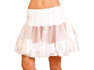 White Petticoat With Satin Trim - Crinolines and Slips