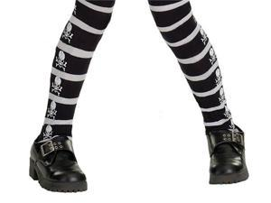 Skull And Crossbones Girls Tights - Pirate Costumes