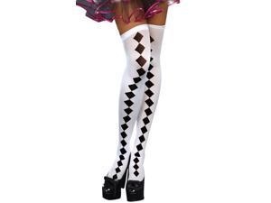 Harlequin Hose Thigh Highs - Harlequin Costumes