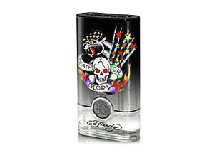 Ed Hardy Born Wild For Men by Christian Audigier Gift Set - 3.4 oz EDT Spray + 3.0 oz Body Wash + 2.75 oz Deodorant Stick + 0.25 oz EDT Mini Spray + Luggage Tag