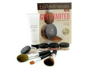 100% Pure BareMinerals Get Started Complexion Kit - Dark ( 2xFdn Spf15+Tinted Mineral Veil+Face Color+3xBrush+DVD+Brush Shampoo ) by Bare Escentuals
