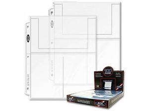 BCW Pro 3-Pocket Page (100 Ct. Box ) - 100 Pages per Box