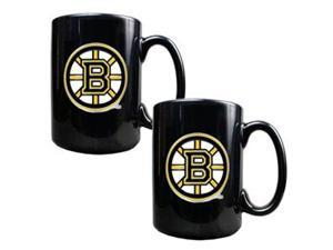 Boston Bruins - 2pc Black Ceramic Mug Set - Primary Logo