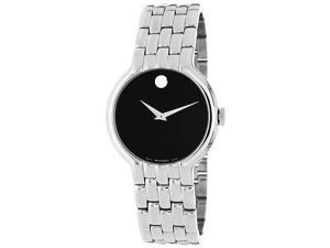 Movado 0606337 Classic Dot Men's Watch - Stainless Steel Case and Bracelet Black Dial