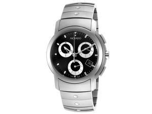 Movado SL Chronograph Mens Black Date Dial Swiss Quartz Watch 0605734