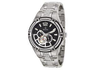 Bulova 98A128 Men's BVA Stainless Steel Crystal Accented Automatic Watch