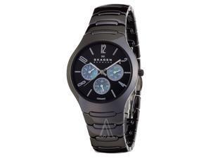 Skagen 817SXBC1 Black Dial Multifunction Black Ceramic Men's Watch