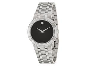 Movado 0606203 Metio Series Men's Black Museum Dial Swiss Quartz Watch