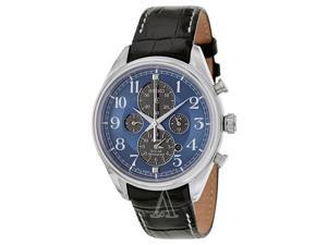 Seiko Solar Chronograph Blue Dial Stainless Steel Mens Watch SSC209