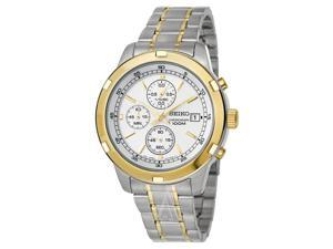 Seiko SKS432 Chronograph Silver and Gold-Tone Stainless Steel Men's Watch