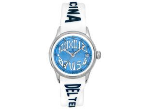 Officina Del Tempo Women's Safi White Silicone-Gel Blue Dial