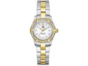 TAG Heuer Aquaracer Diamond Set Bi-Metal Bracelet Ladies Watch WAF1450.BB0825