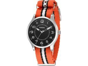Fossil Orange Nylon Mens Watch FS4528
