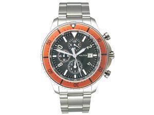 Nautica Chronograph Orange Bezel Mens Watch N34502G