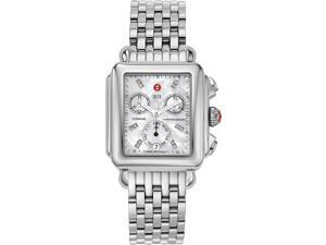 Michele Ladies Deco Mother of Pearl Dial Chronograph Watch MWW06P000014