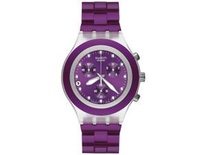 watch Irony Diaphane Chronograph White Crystal Violet Ion Plated Stainless Steel