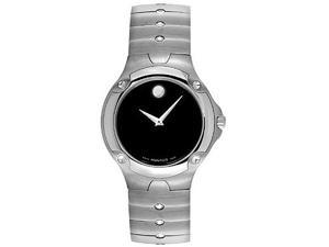 Movado Sport Edition 0604458 Men's Black Dial Stainless Steel Analog Watch