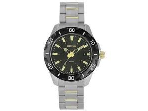 Seiko Mens Casual Dark Grey Dial Stainless Steel Watch SGEE51