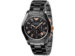 Emporio Armani Chronograph Black Ceramic Mens Watch AR1410
