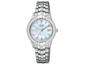 Citizen Eco-Drive Silhouette Crystal Mother-of-pearl Dial Women's watch #EW1680-55D