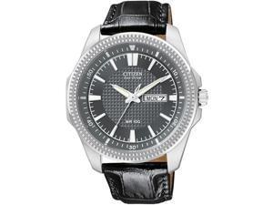 Citizen Eco-Drive WR100 Leather Charcoal Dial Men's watch #BM8490-06H