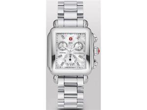 Michele Signature Deco Non-Diamond Diamond Chrono Dial Ladies Watch MWW06P000101