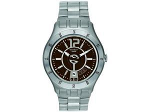 Swatch In A Brown Mode Mens   Watch YTS406G