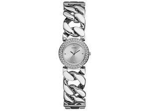 GUESS Silver-Tone Chain   Bracelet Ladies Watch U11662L1