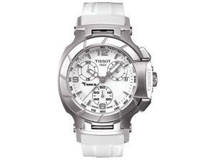 Tissot T-Race White Rubber Chronograph Ladies Watch T0482171701700