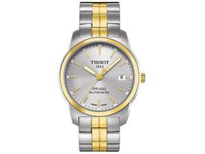 Tissot PR100 Two-Tone Automatic Mens Watch T0494072203100