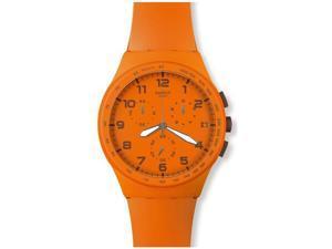 Swatch Originals Wild Orange Chronograph Orange Silicone Unisex Watch SUSO400