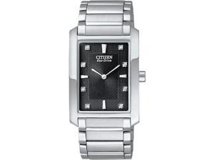 Citizen BL6050-57E Eco-Drive Strainless Steel Palidoro Diamond Accented Black Dial