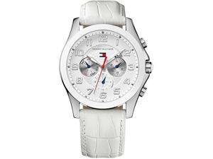 Tommy Hilfiger White Leather Chronograph Ladies Watch 1781281