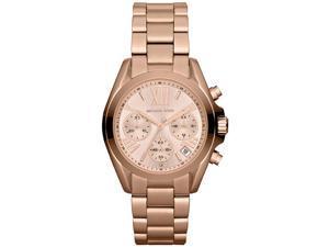 Michael Kors Bradshaw Chronograph Rose Dial Rose Gold-tone Ladies Watch MK5799