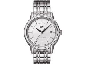 Tissot T Classic Powermatic Automatic White Dial Steel Mens Watch T0854071101100