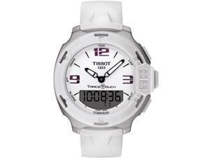 Tissot T-Race Analog Digital White Rubber Mens Watch T0814201701700