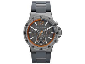 Michael Kors Gunmetal Silicone Chronograph Mens Watch MK8299