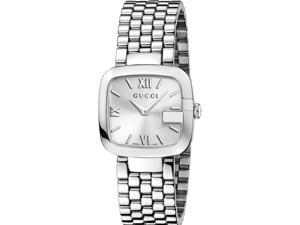 Gucci G-Gucci Silver Dial Stainless Steel Ladies Watch YA125411