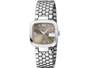 Gucci Brown Dial Stainless Steel Ladies Watch YA125410