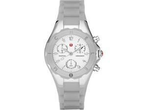 Michele Tahitian Jelly Bean Grey Silicone Chronograph Ladies Watch MWW12D000020