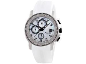 Kenneth Cole New York White Silicone Chronograph Mens Watch KC2798