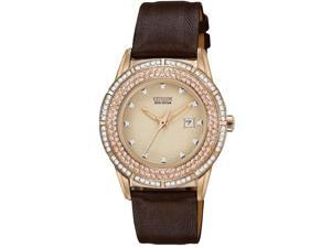 Citizen DRIVE TTG Crystal Bezel Ladies Watch FE1113-03A