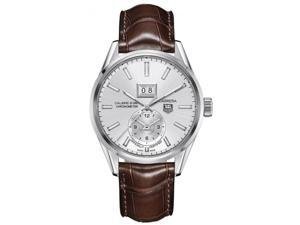 Tag Heuer Carrera Calibre 8 Silver Dial Brown Leather Mens Watch WAR5011.FC6291