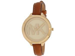 Michael Kors Slim Runway Luggage Leather Ladies Watch MK2326