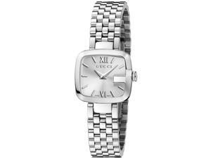Gucci G-Gucci Silver Dial Stainless Steel Ladies Watch YA125517