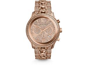 Michael Kors Lindley Chrono Rose Crystal Pave Dial Rose Gold-tone Watch MK5900
