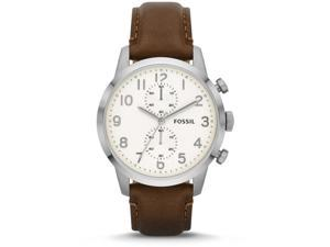 Fossil Townsman Brown Leather Chronograph Mens Watch FS4872