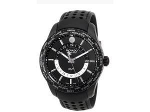 Movado SE Black Dial Black Leather Mens Watch 2600117