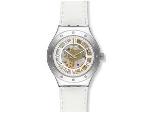 Swatch Rosetta Bianca Automatic Ladies Watch YAS109